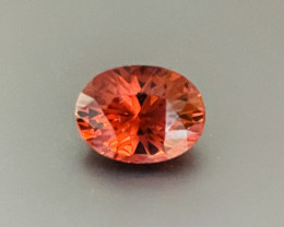 8.32ct Reddish orange tourmaline.  No Treatments.