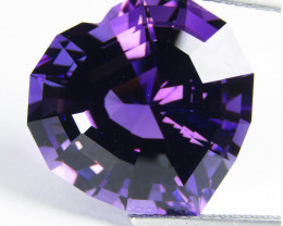20.00Cts Unique Ultra Quality Natural Amethyst Heart  Custom Cut Loose Gem