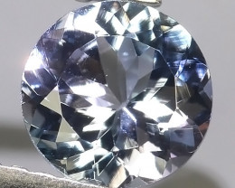 0.80 Ct VS Exclusive Round Cut 6.22 mm Natural Rare Tanzanite~Gem!!