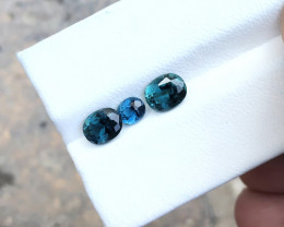 1.90 Ct Natural Blue Transparent Ring Size Tourmaline Gemstones Parcels