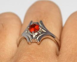 Natural Garnet 925 Silver Ring 432