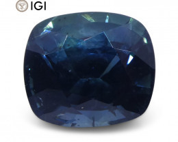 2.29ct Teal Blue Sapphire, Cushion IGI Certified