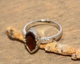 Natural Garnet 925 Silver Ring 450
