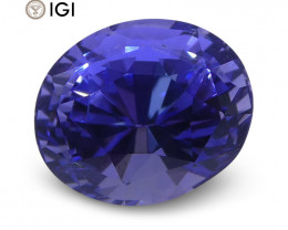 2.12ct Violet Blue Sapphire, Oval, IGI Certified Unheated