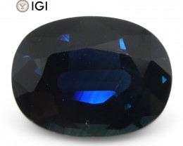 2.19 ct Blue Sapphire Oval IGI Certified Ethiopian