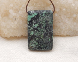53Cts Natural African Turquoise Pendant Bead H11712