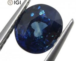2.02 ct Oval Blue Sapphire IGI Certified