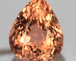 6.50 CTS DAZZLING NATURAL ORANGE PEAR TOURMALINE MOZAMBIQ~GEM!!