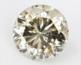0.59 CTS , Round Brilliant Cut , Light Colored Diamond