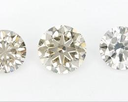 0.74 cts ,  Round Brilliant Cut , Light Colored Diamond