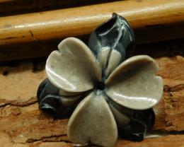 Gemstone flower bead carving flower for lover (G2675)