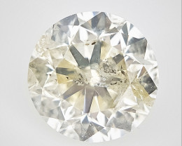0.36 CTS , Round Brilliant Cut , Light Colored Diamond