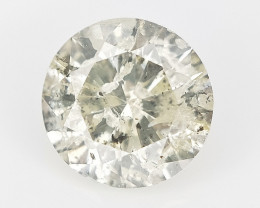0.37 CTS , Round Brilliant Cut , Light Colored Diamond