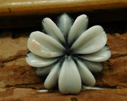 Gemstone flower carving pendant (G2678)