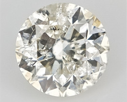 0.21 CTS , Round Brilliant Cut , Light Colored Diamond