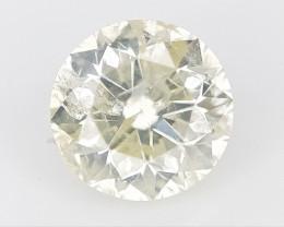 0.34 CTS , Round Brilliant Cut , Light Colored Diamond