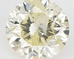 0.22 CTS , Round Brilliant Cut , Light Colored Diamond