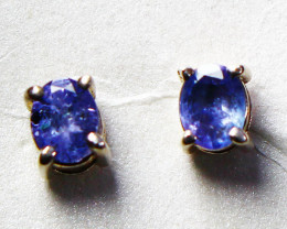 4.70 CTs Natural & Unheated~ Tanzanite Earrings Pair