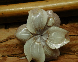 Purple jade carving flower pendant (G2691)