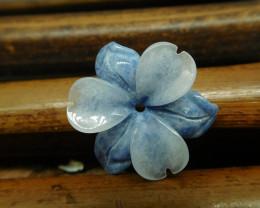 Tiny sodalite carving flower pendant (G2694)