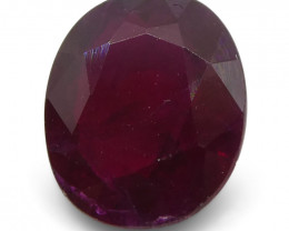 0.8 ct Oval Ruby Mozambique