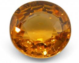 2.13 ct Oval Vivid Fanta Orange Spessartite/Spessartine Garnet-$1 No Reserv
