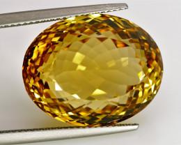 28.21 ct. 100% Natural Top Yellow Golden Citrine Unheated -IGE Certificat
