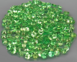200Pcs/8.67 Ct Diamond Cut 2.0 mm.Best Color  Natural Tsavorite Garnet