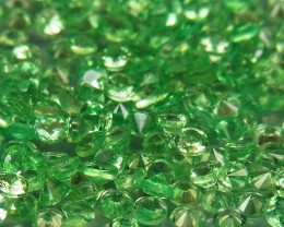 200Pcs/8.63 Ct Diamond Cut 2.0 mm.Best Color  Natural Tsavorite Garnet