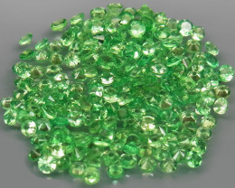 238Pcs/9.77 Ct Diamond Cut 2.0 mm.Best Color Natural Tsavorite Garnet