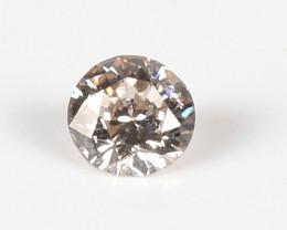 0.52ct Natural Light Brown Round diamond GIA certified
