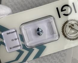 Bright Blue CEYLON Sapphire 0.95ct Rare IGI CERTIFIED Pear Teardrop Cut Gem