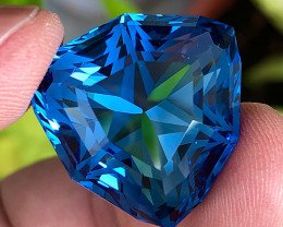 61.83 ct Swiss Blue Topaz With Excellent Luster And Super Top Color Gemston
