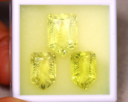 Lemon Quartz 47.37Ct 3Pcs Natural VVS Lemon Quartz ER475/C2