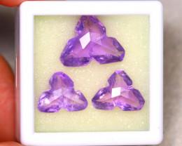 Amethyst 23.56Ct 3Pcs Natural Purple Color Violet Amethyst ER476/C3