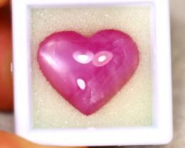 Ruby 23.88Ct Heart Shape Ruby Cabochon Madagascar Pinkish Red Ruby ER479
