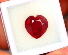 Ruby 8.16Ct Heart Shape Madagascar Blood Red Ruby ER482