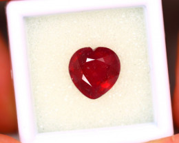 Ruby 5.00Ct Heart Shape Madagascar Blood Red Ruby ER484