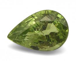 3.84ct Pear Mint Green Grossular Garnet