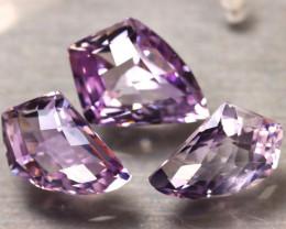 Amethyst 26.20Ct 3Pcs Natural Purple Color Violet Amethyst ER496/C3