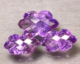 Amethyst 19.33Ct 3Pcs Natural Uruguay Electric Purple Amethyst  ER498/C3