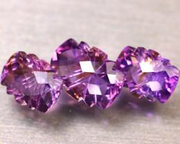 Amethyst 16.98Ct 3Pcs Natural Uruguay Electric Purple Amethyst ER503/C3