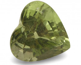 3.53ct Heart Kiwi Green Grossular Garnet