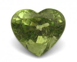 3.05ct Heart Kiwi Green Grossular Garnet