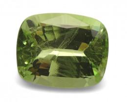 2.62ct Cushion Mint Green Grossular Garnet