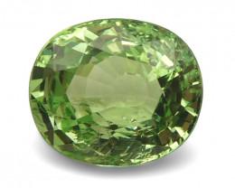 2.57ct Oval Apple Green Grossular Garnet