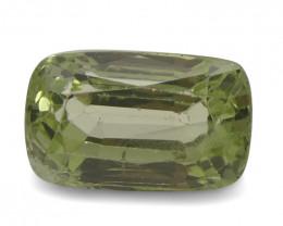 3.50ct Cushion Kiwi Green Grossular Garnet
