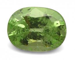 2.56ct Oval Mint Green Grossular Garnet