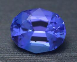 Unheated Tanzanite 4.01Ct Rare Unheated Blue Tanzanite IF Flawless BQ07