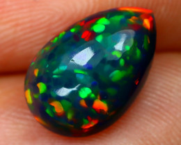 Black Opal 1.90Ct Natural Smoked Ethiopian Play Color Black Opal C2305